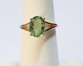 1.64ct Mozambique Paraiba Tourmaline 10kt Yellow Gold Ring Size 5.5