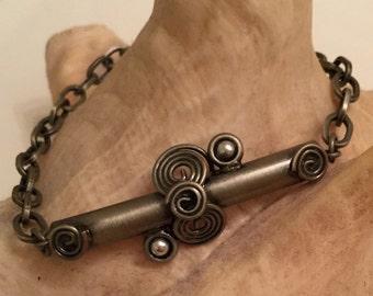 designer style scroll bracelet new old stock