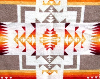 Glorious Vintage Wool Indian Blanket BEAVER STATE Pendleton Native American-Style Design