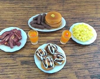 1:12 Scale Miniature Dollhouse Breakfast Set