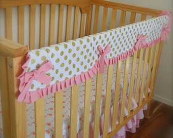 Baby rail cover / Ruffled Crib Rail Cover / Customize With You Choice Of Fabric