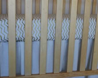 Crib Dust Ruffle / Crib Skirt/ you choose color