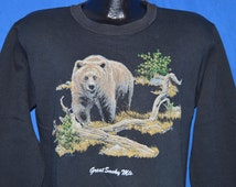 80s Great Smokey Mountains Sweatshirt Large
