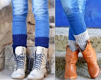 Crochet Chunky Boot Cuffs, womens mini Leg Warmers, Boot Socks, Boot Topper, Boot Socks by TTAcc