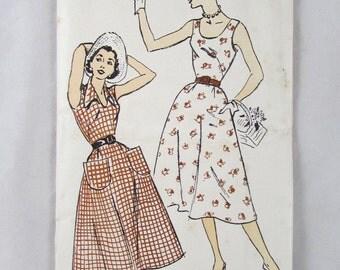 New York Pattern UNCUT Size 20-38 Dress 1381 Gold Seal 1950s