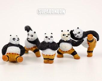 One set / Decoden / Figurine / PVC / Kung Fu Panda / Animal / OPortugal / Dollhouse / Charms / 3cm / CN859