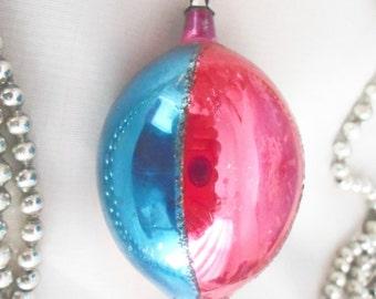 Vintage Christmas Ornament, Poland Christmas Ornament, Glass Christmas Ornament.