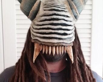 Demon Skull Mask Justiciar Custom Handmade