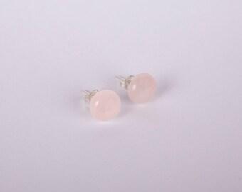 Earstuds Rose Quarz Earrings Stud