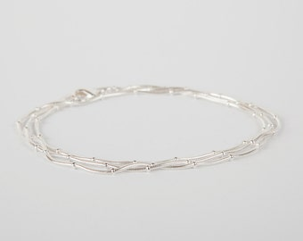 Bracelet Silver Ball Chain Plated  Silver Plated  Ballchain  Plated Beads Bracelet Layer Look Snake