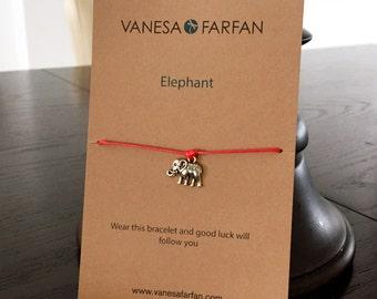 Friendship Bracelet, Elephant, for Kids, Girls and Women, Wish Bracelet Adjustable, 16 Colors