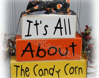 It's All About The Candy Corn Itty Bitty Stacking Blocks