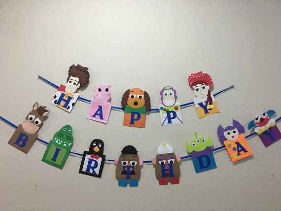 Toy story banner toy story birthday banner toy story party toy