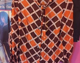 70s mod blouse