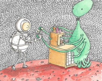 Alien Barista