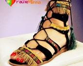 Boho Sandals 03 /Tie up Gladiator sandals/ Sandálias Bohemian