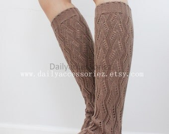 mocha brown womens leg warmers, knit leg warmers, leg warmers adult, boot socks, for girls, for women, Christmas Gifts, for her, for mom