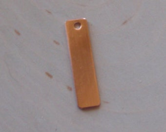 18 gauge  1/4 inch by 1 inch copper tag stamping blank, rectangle blank , rectangle copper tag - 5pc
