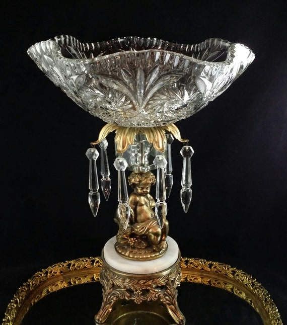 Items similar to centerpiece display bowl stand glass