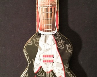Coca Cola guitar shaped tin