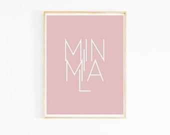 Minimal Milan Pale Baby Pink Art Print