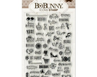 Bo Bunny Icon Clear Stamps ST110BBI
