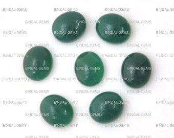 15 Pieces Wholesale Lot Wonderful Green Onyx Oval Shape Cabochon Gemstone For Jewelery