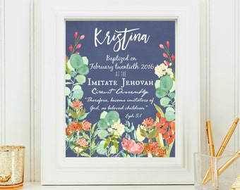 JW Baptism Print-Custom Printable Download -  jw baptism gift- jw gifts - jw baptism
