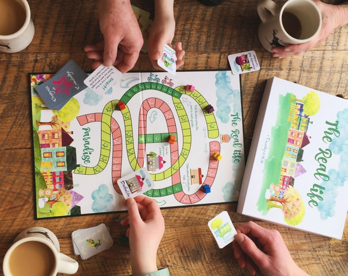 Featured listing image: Paradise Boardgame -The Real Life, Acting Out Bible Story Scenes, Bible Trivia, and Little Lessons in The How Did You Do? Cards