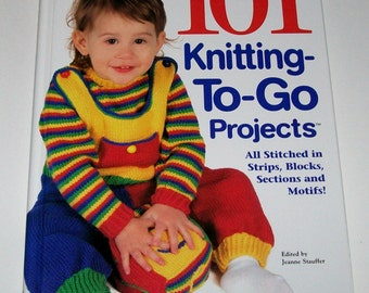CLEARANCE - House of White Birches 101 Knitting -To-Go Projects - Hardcover Book