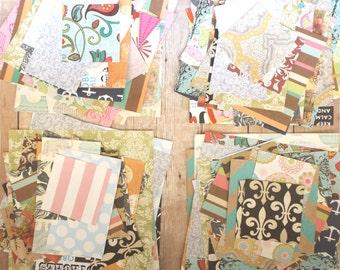 50 Pieces Scrap Book Paper Mixed Square Scraps ~~ 1-5 Inch Squares ~~