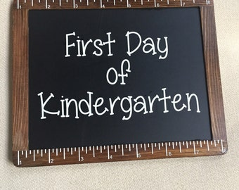 Reversible First and Last Day of School Chalkboard Sign