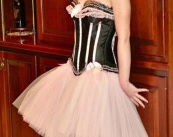 Sew Burlesque...Steampunk Ballerina Style Tulle Corset Tutu Prom Dress