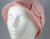 Lightweight Cloche in Pale Pink for Cancer Patients - Chemo Hat/Cancer Hat/Chemo Cap/Cancer Cap