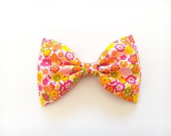 Floral hair bow floral bow tie