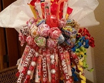 Happy Birthday Ice Cream Parfait Candy Bouquet Arrangement
