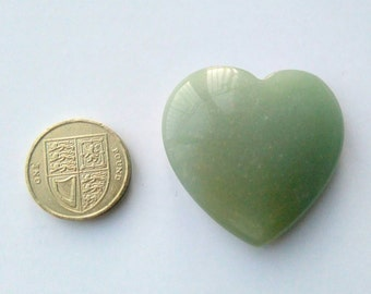 40mm Gemstone Heart - Green Aventurine
