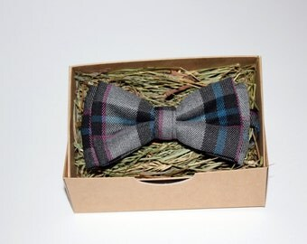 Pink striped grey bow tie, Stylish bow tie, Men's bow tie, Bow tie for men, Bow tie for boys, Rustic bow tie, Party bow tie, Gift for men