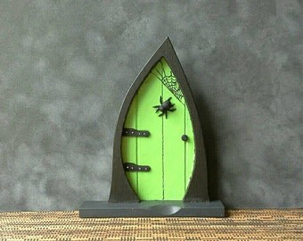 Witch Fairy Door  - Wooden Fairy Door -