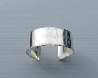 Jorge's Silver Cuff Bracelet is Handmade with Sterling Silver.