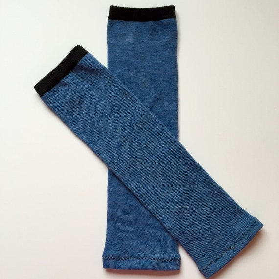 Heather Denim Blue And Black Striped Baby Leggings And Toddler