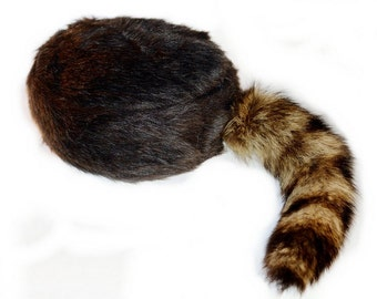 Brown Coon Tail Cap