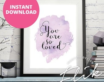 """Purple Watercolor Calligraphy Typography Motivational Quote, Inspirational Saying, Digital Print, Downloadable Poster, 8x12"""" Printable"""