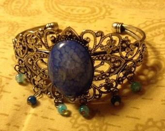 Azure Dreams Filigree Steampunk Bracelet