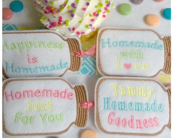 Mason Jar Tags Machine Embroidery Set Machine Embroidery Instant Download Design