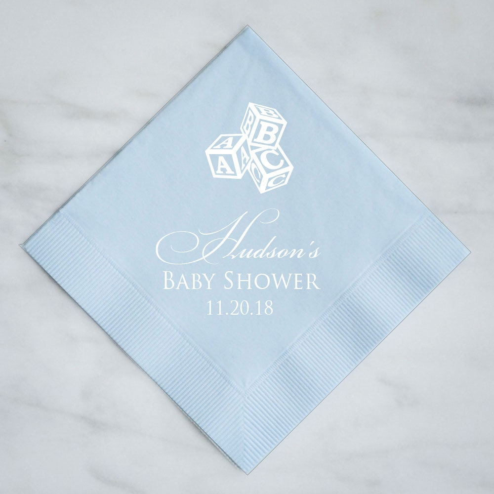 Personalized Baby Shower Napkins Custom Baby Shower Napkins