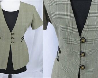 "Womens Dress, Office Dress, Vintage Dress, Knee Length Dress, Womens Unique Dress,Bust 39"", 80s Dress, Black Dress, Professional Dress, 1980"
