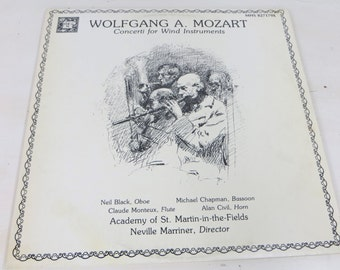 Vinyl Double, Neville Marriner, Wolfgang A. Mozart, Concerti for Wind Instruments, Mozart, Album, Vinyl Record, Classical Music, Symphony