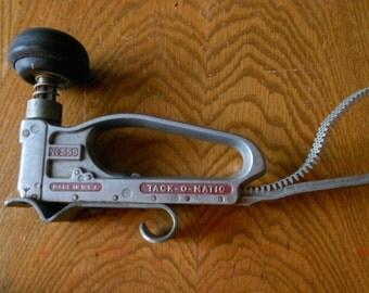 Vintage J.B. Crofoot Tack-O-Matic No 558 Window Shade Upholstery Stapler