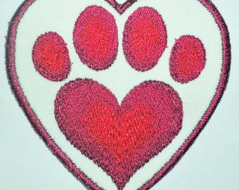 Iron-On Patch - PAW HEART